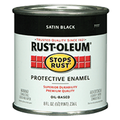 7777730 Black Satin Stops Rust Brush Half-Pint