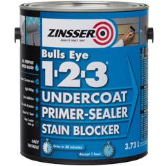 Zinsser bulls eye 1 2 3 grey primer product page - Exterior acrylic latex stain blocking primer ...