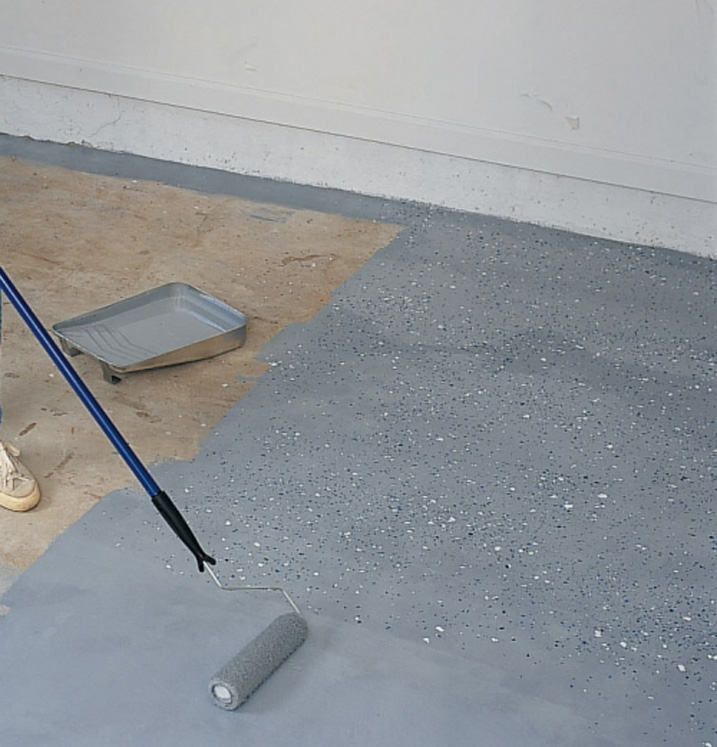 Diy garage floor makeover with rocksolid metallic floor coating epoxyshield garage floor solutioingenieria Image collections